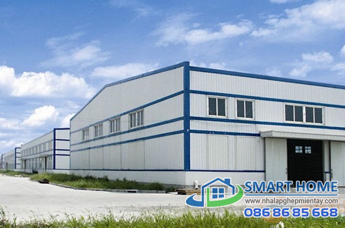 Nhà lắp ghép xưởng – nhà máy SH 04