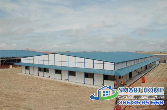 Nhà lắp ghép xưởng – nhà máy SH 01