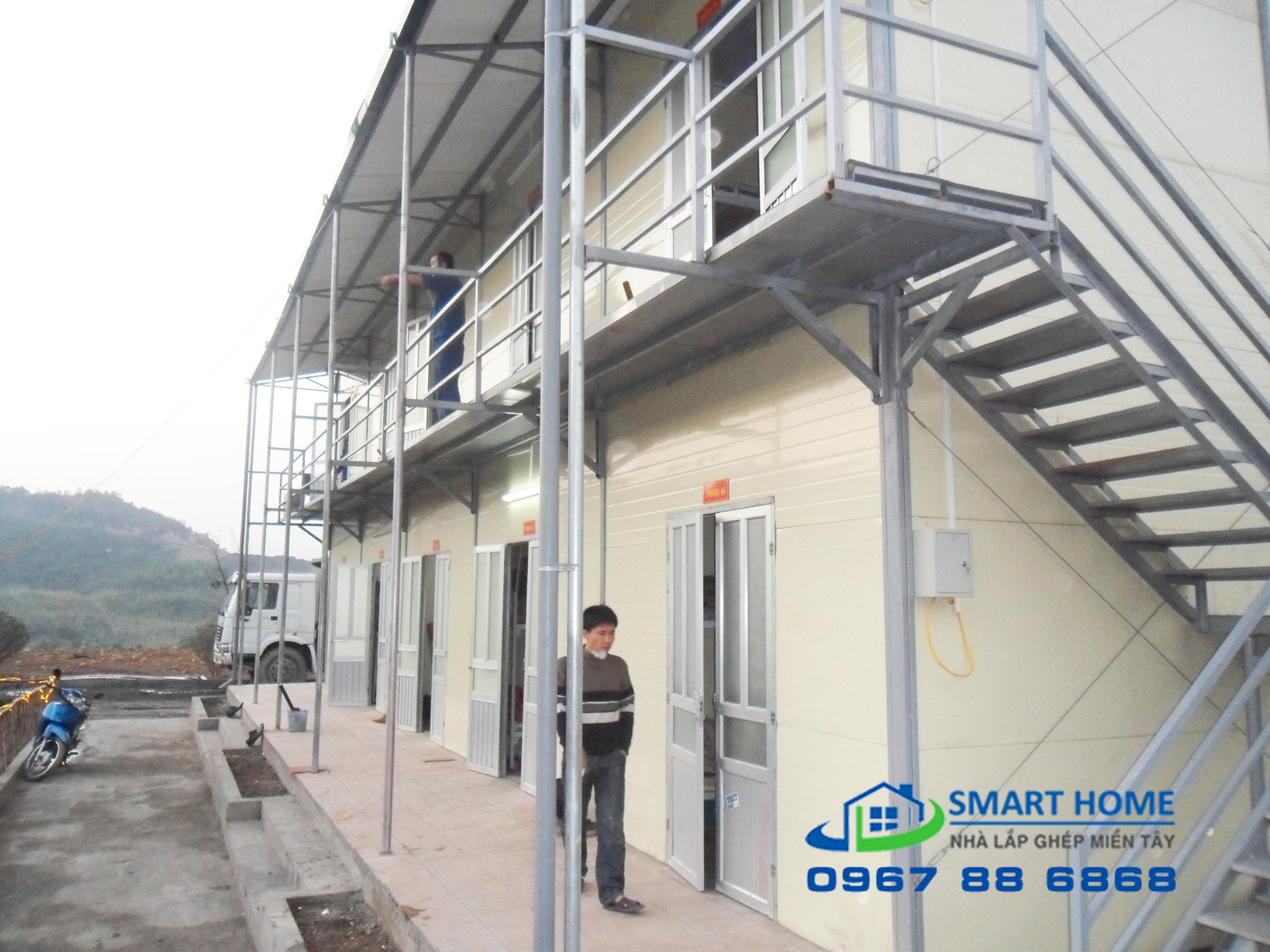 nhà ở công nhân xây bằng phương pháp lắp ghép