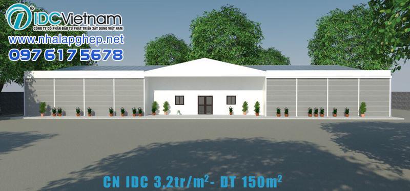 Nhà lắp ghép CN IDC giá 3.2tr/m2