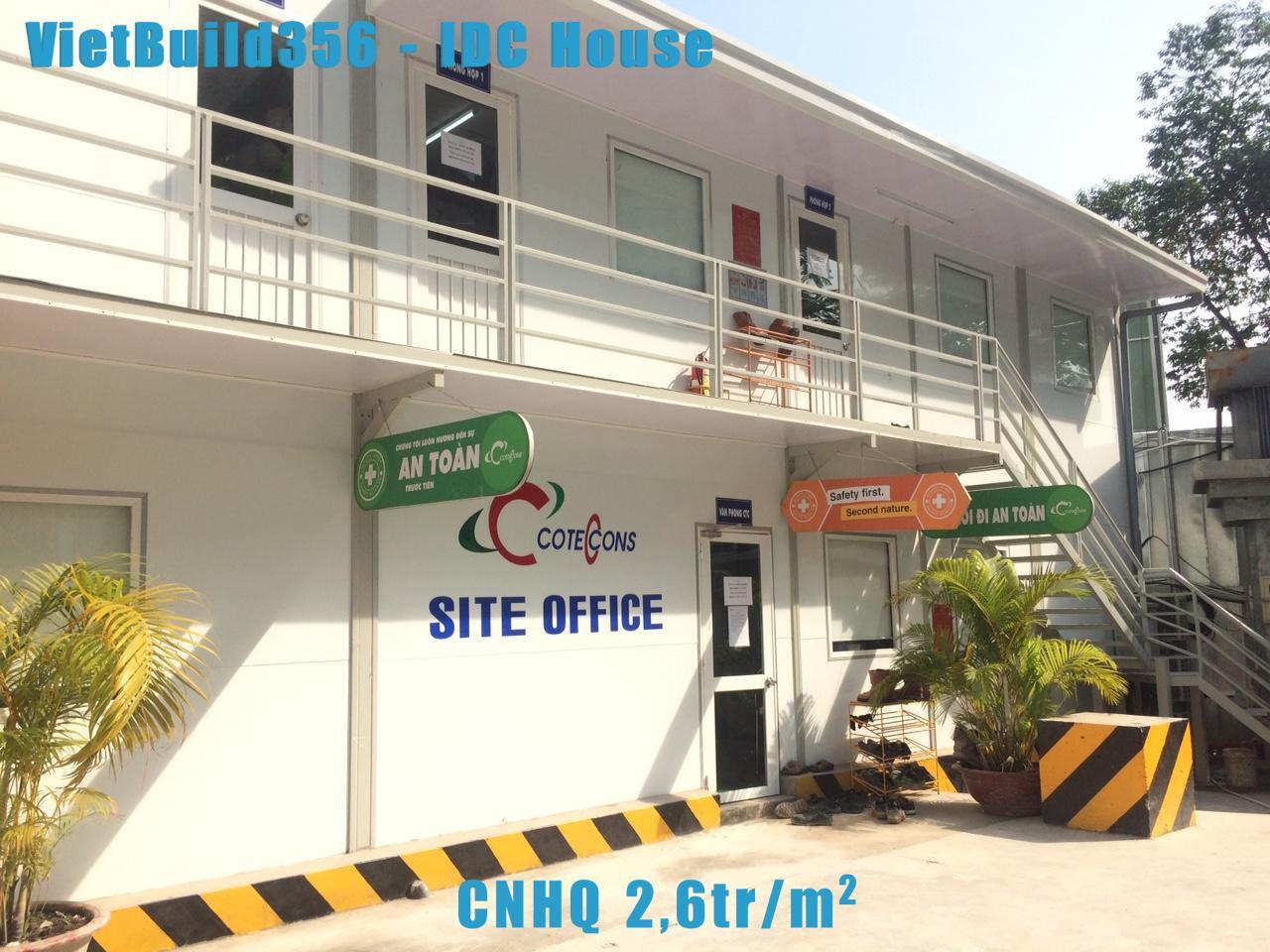 Nhà lắp ghép CNHQ giá 2.6tr/m2